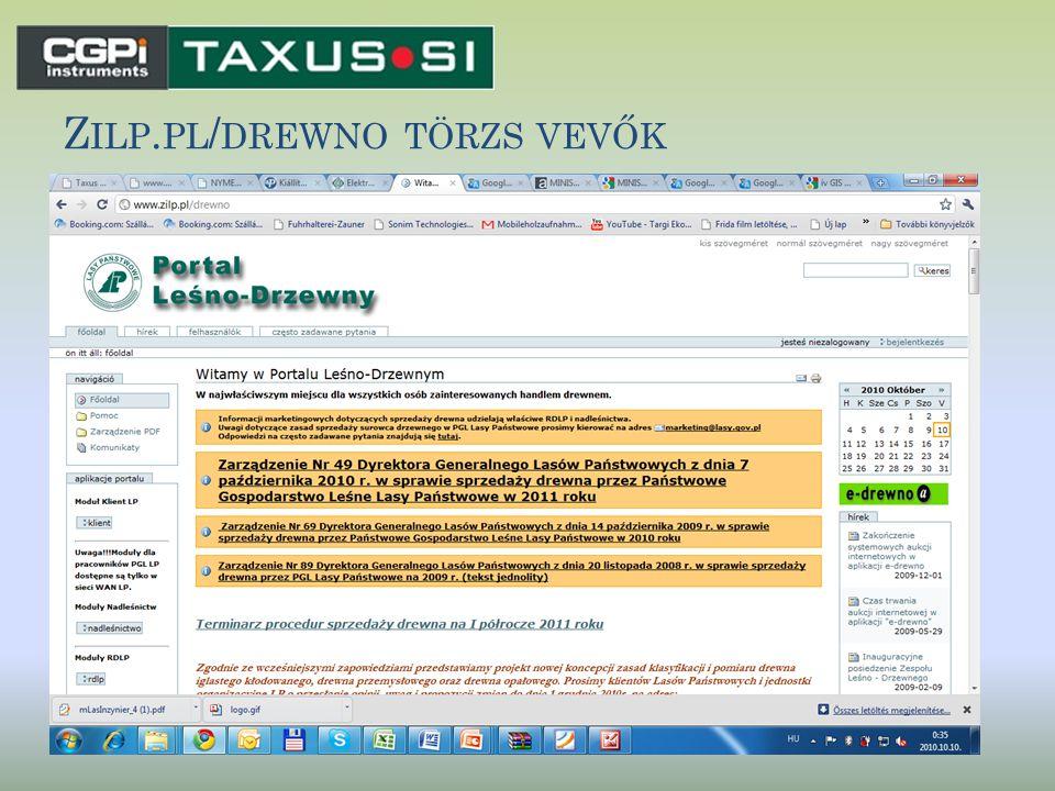 Zilp.pl/drewno törzs vevők