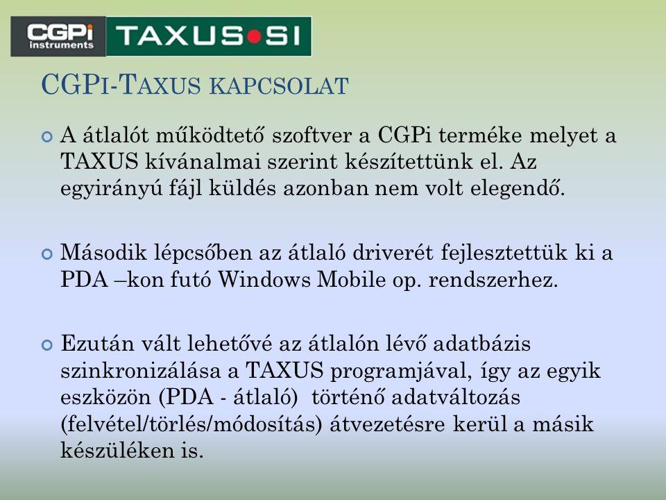 CGPi-Taxus kapcsolat