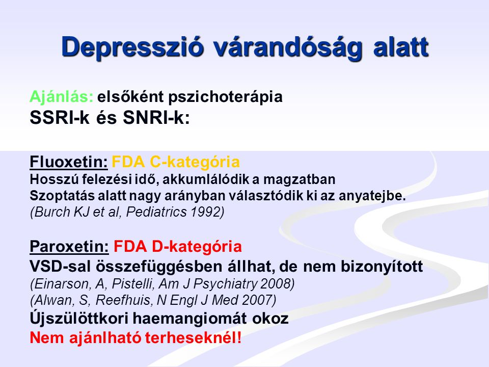 Depresszió várandóság alatt