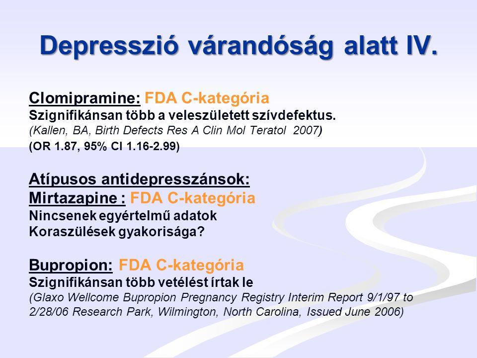 Depresszió várandóság alatt IV.