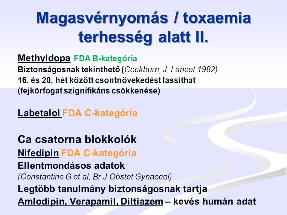 Magasvérnyomás / toxaemia terhesség alatt II.