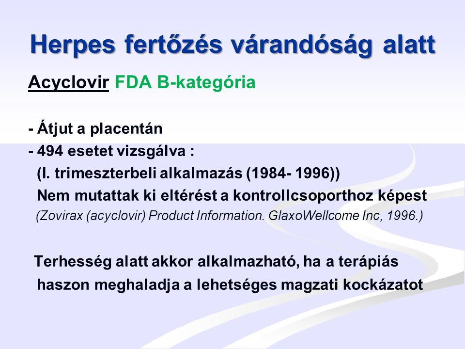 Herpes fertőzés várandóság alatt