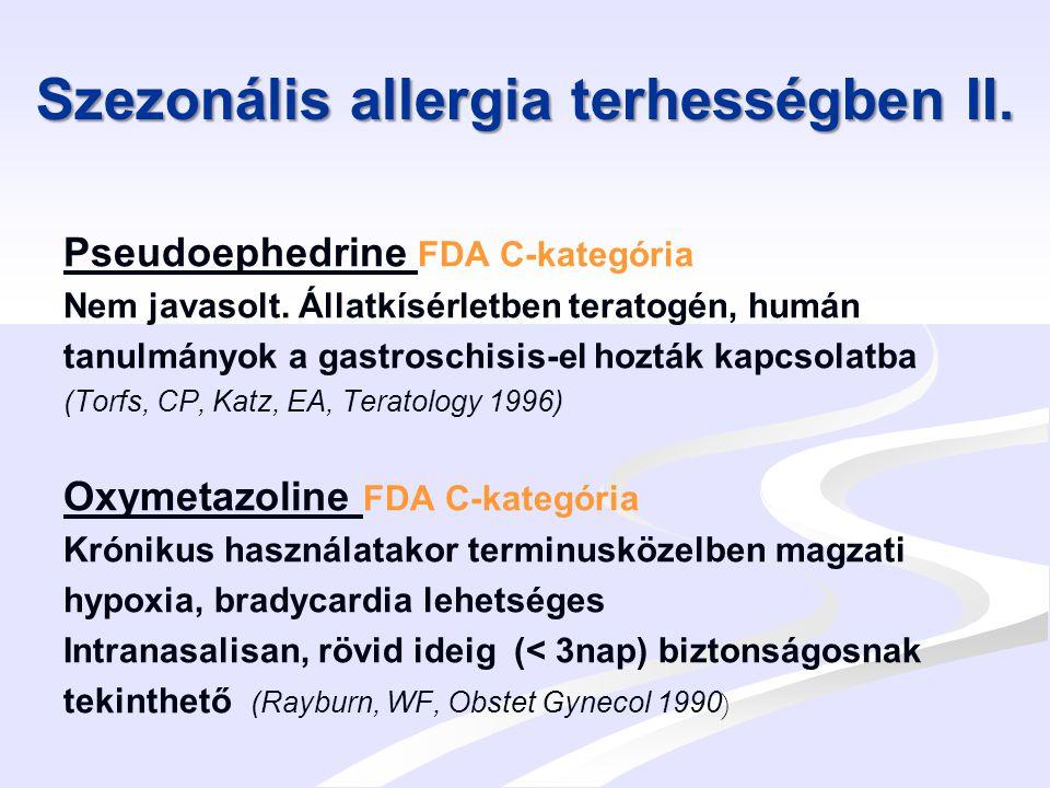Szezonális allergia terhességben II.
