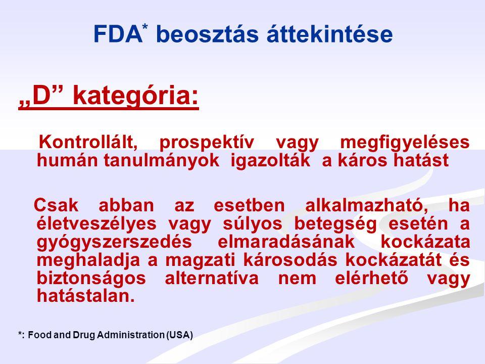FDA* beosztás áttekintése