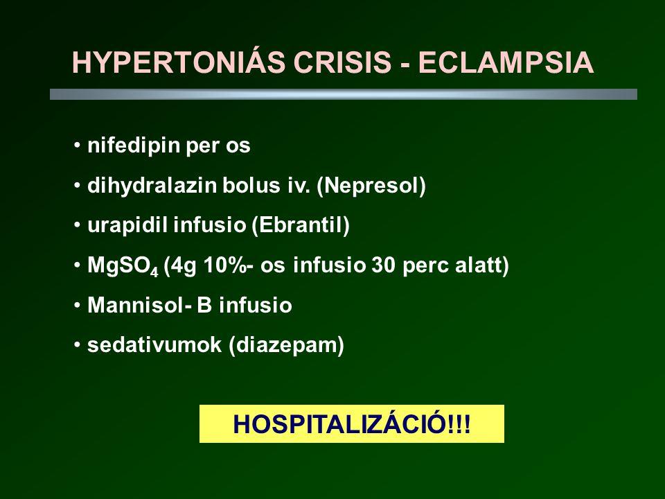 HYPERTONIÁS CRISIS - ECLAMPSIA