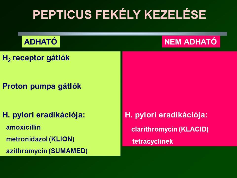 PEPTICUS FEKÉLY KEZELÉSE