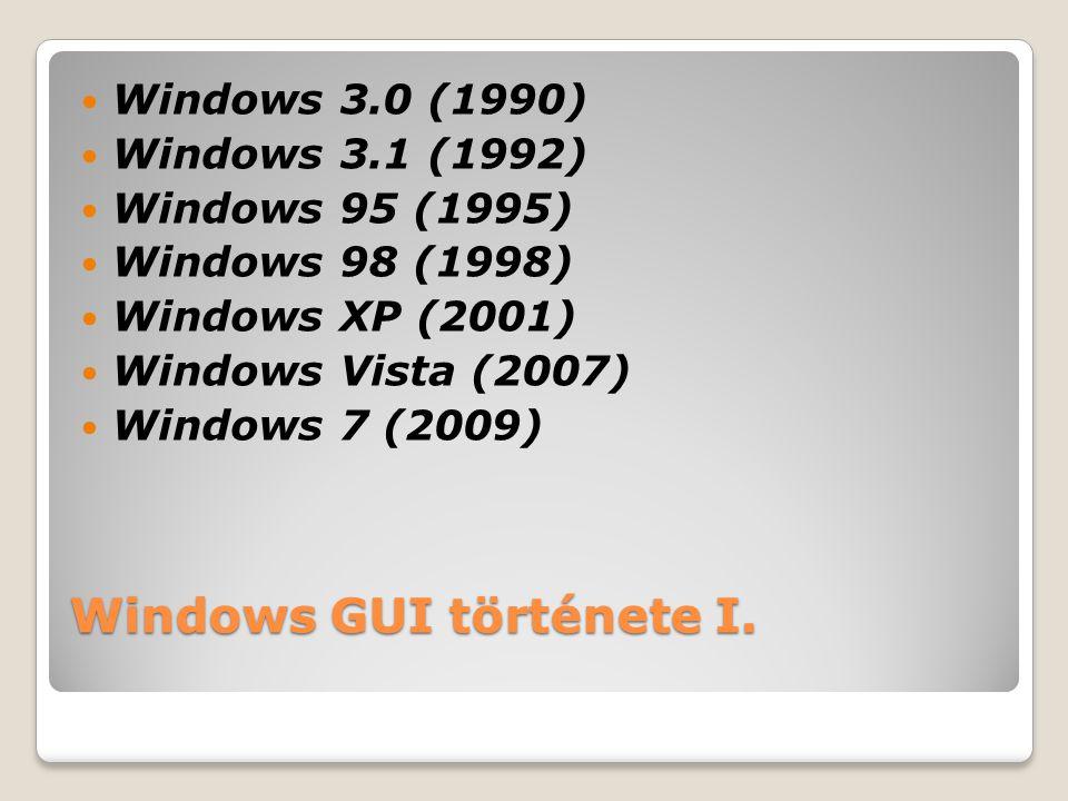 Windows GUI története I.