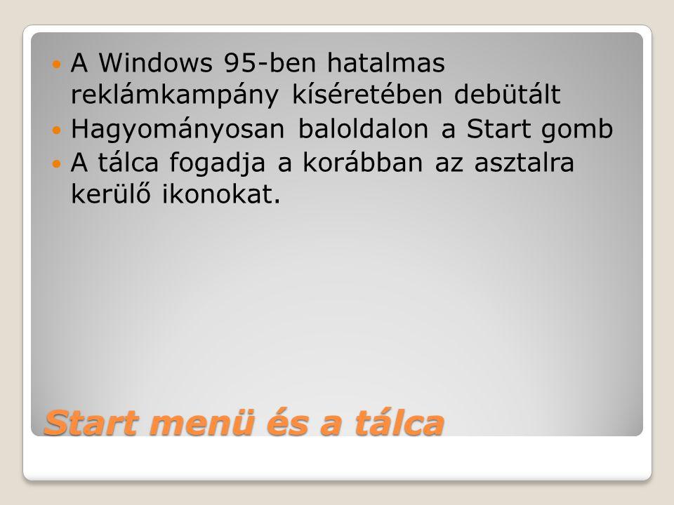 A Windows 95-ben hatalmas reklámkampány kíséretében debütált