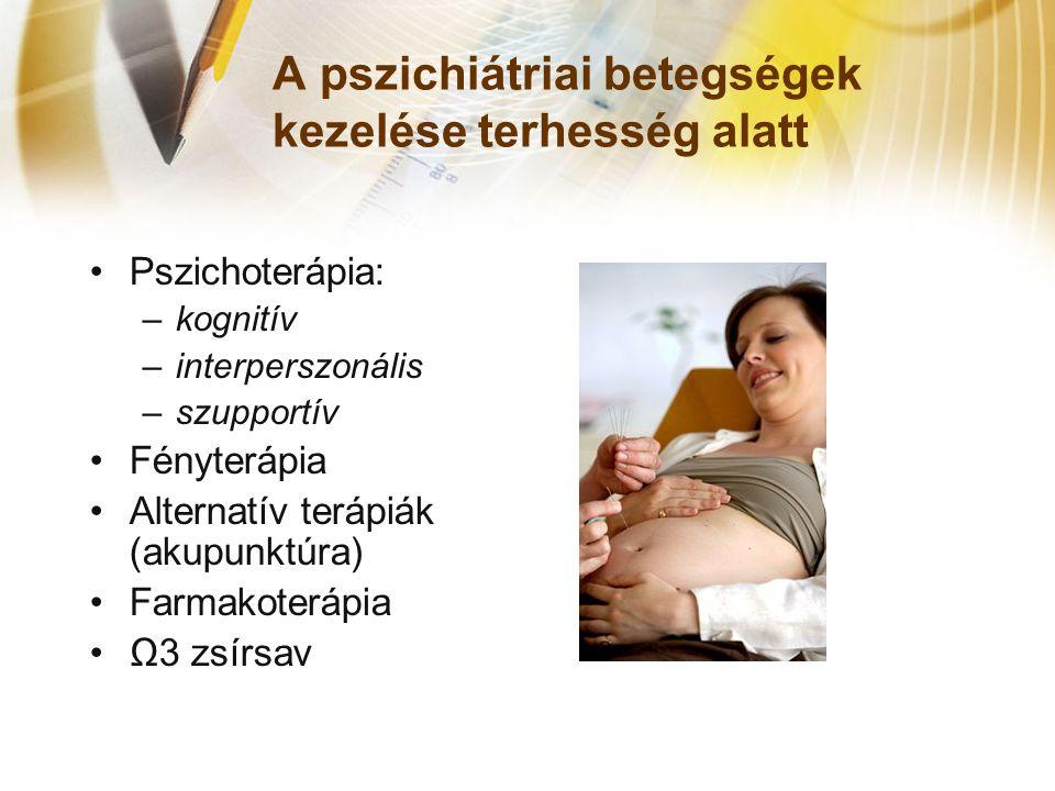 A pszichiátriai betegségek kezelése terhesség alatt