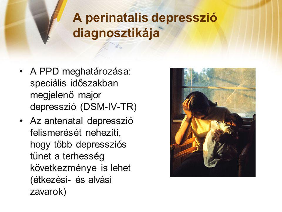 A perinatalis depresszió diagnosztikája