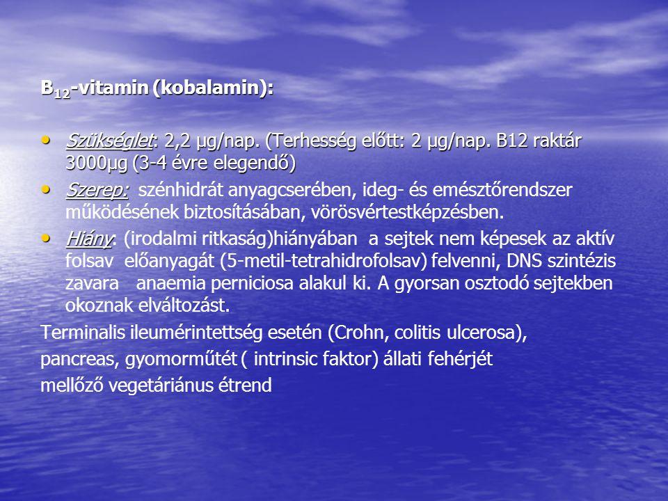 B12-vitamin (kobalamin):