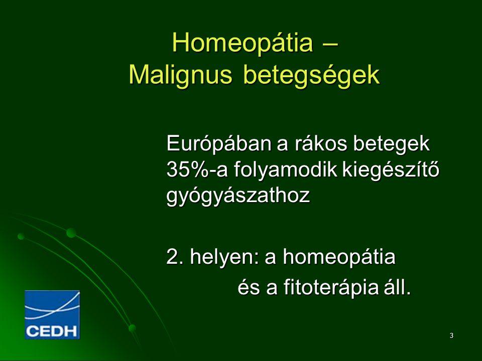 Homeopátia – Malignus betegségek