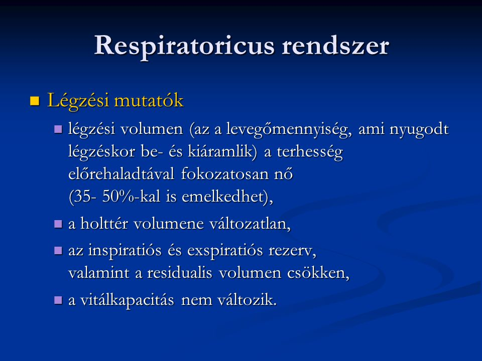 Respiratoricus rendszer