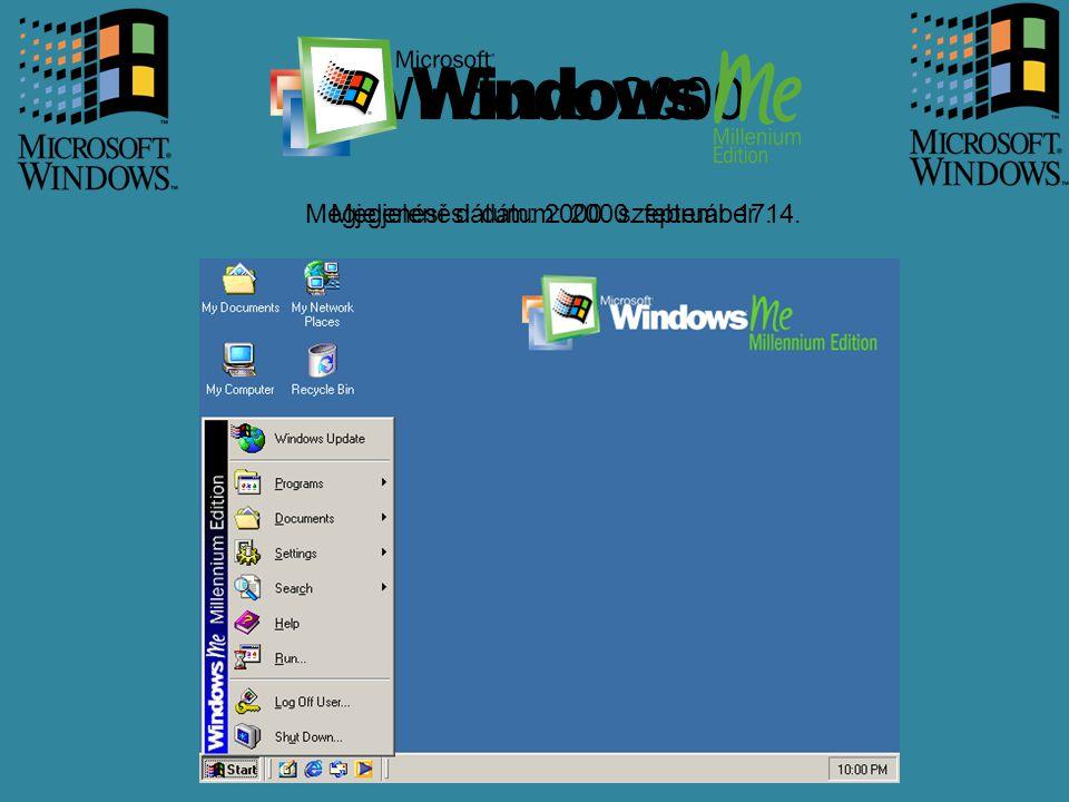 Windows 2000 Megjelenési dátum: 2000. február 17.