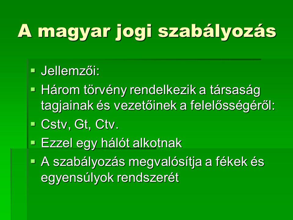 A magyar jogi szabályozás