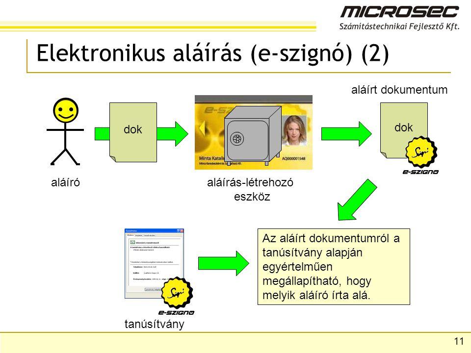 Elektronikus aláírás (e-szignó) (2)