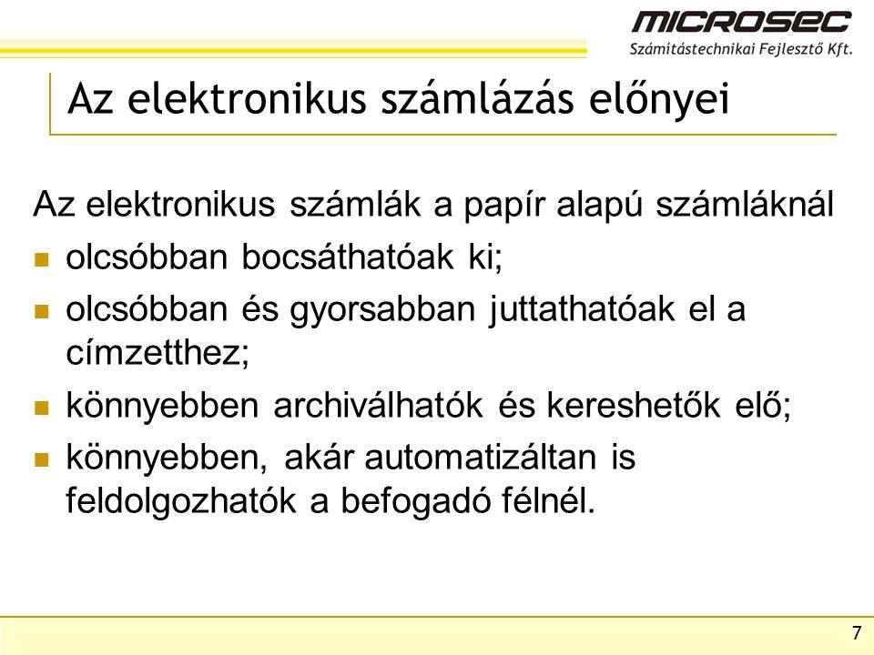 Az elektronikus számlázás előnyei