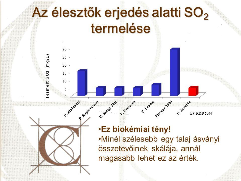 Az élesztők erjedés alatti SO2 termelése