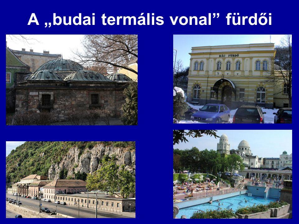 """A """"budai termális vonal fürdői"""