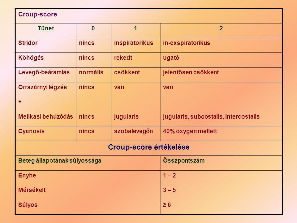 Croup-score értékelése