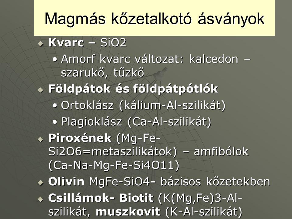 Magmás kőzetalkotó ásványok