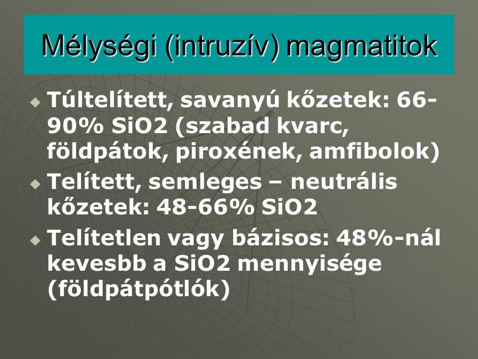 Mélységi (intruzív) magmatitok