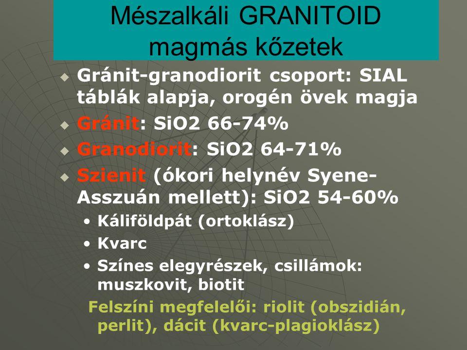 Mészalkáli GRANITOID magmás kőzetek