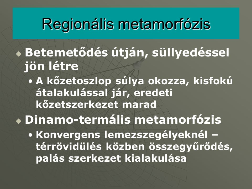Regionális metamorfózis