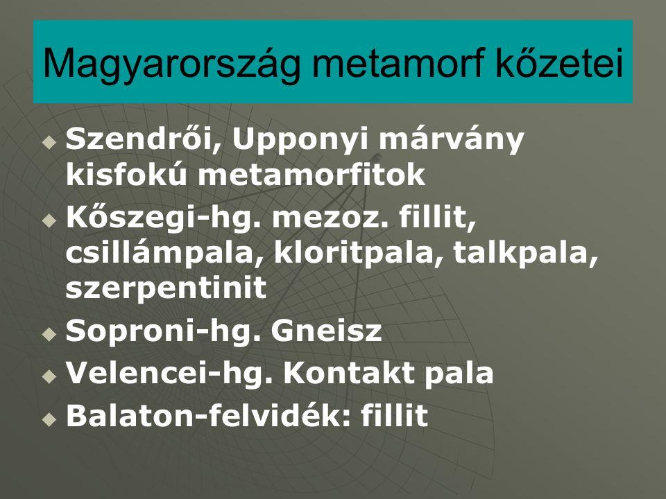 Magyarország metamorf kőzetei