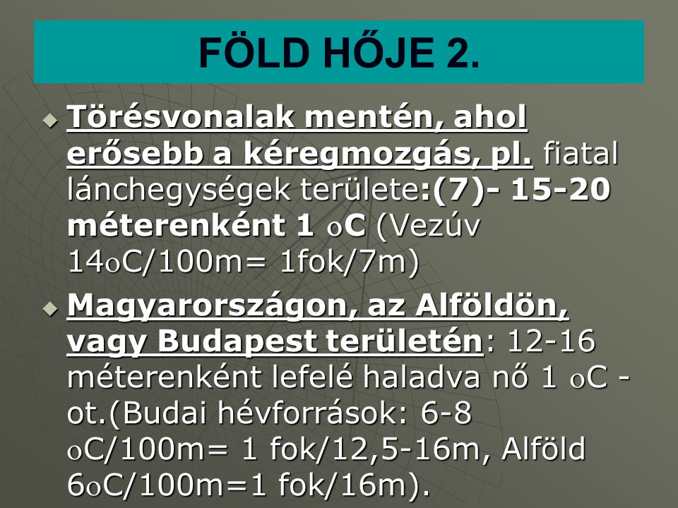 FÖLD HŐJE 2.