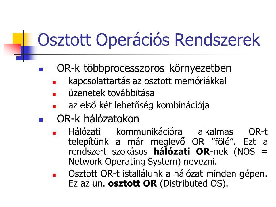 Osztott Operációs Rendszerek