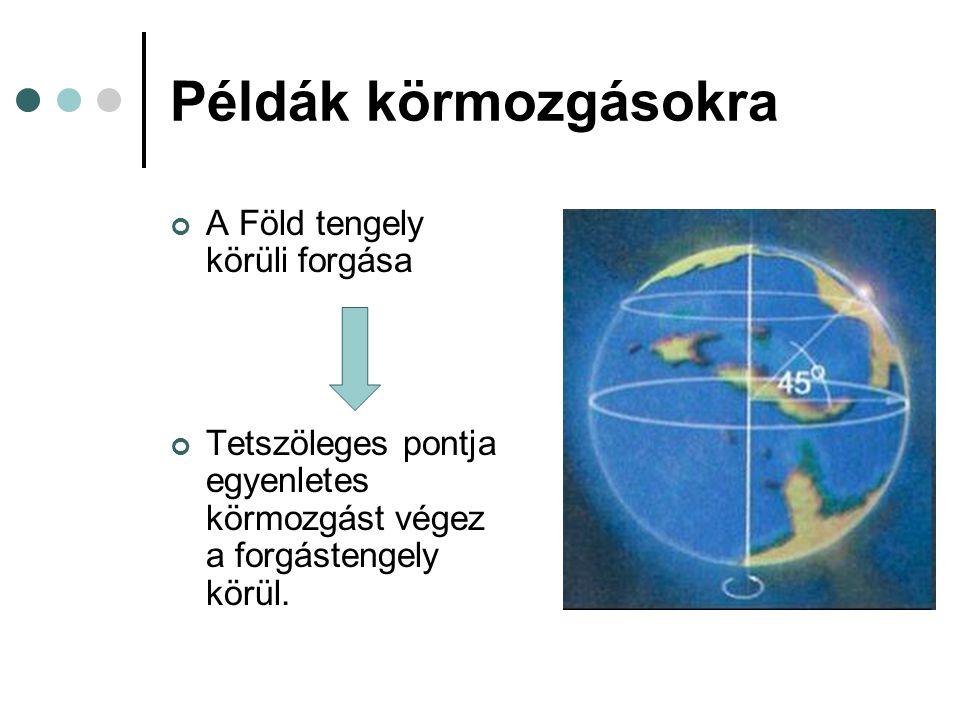 Példák körmozgásokra A Föld tengely körüli forgása
