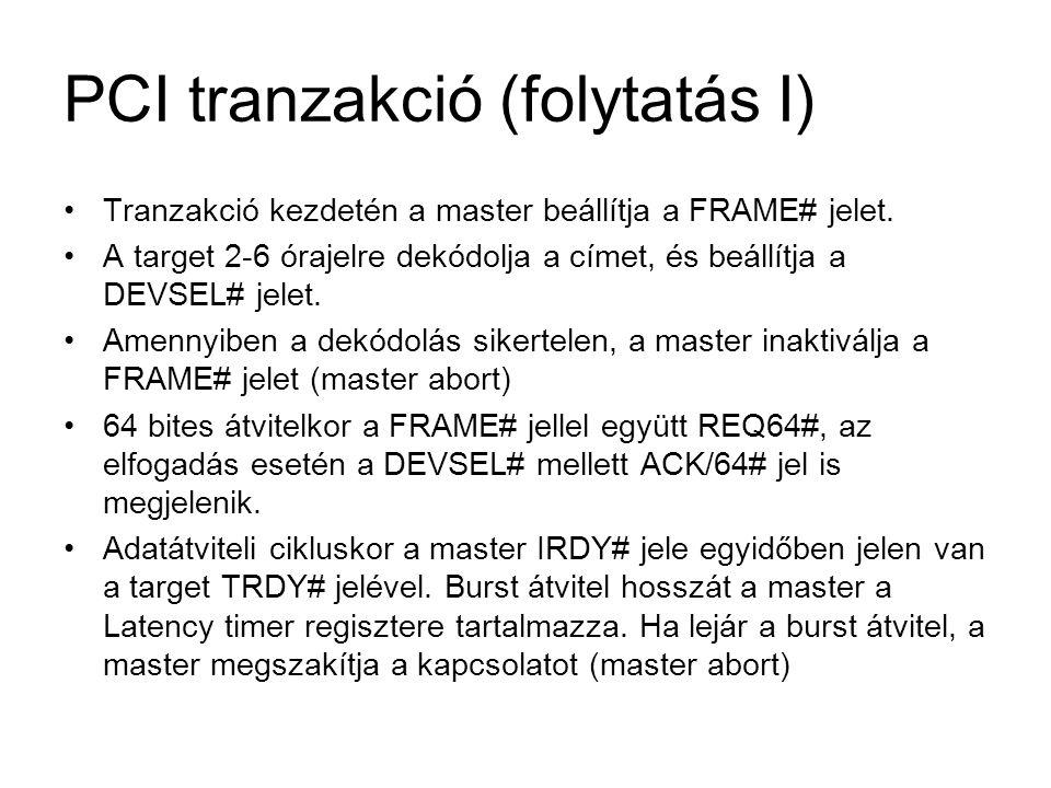 PCI tranzakció (folytatás I)