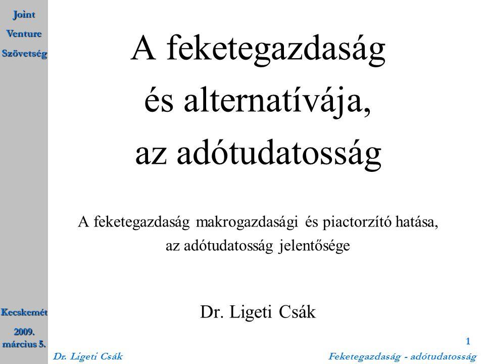A feketegazdaság és alternatívája, az adótudatosság Dr. Ligeti Csák