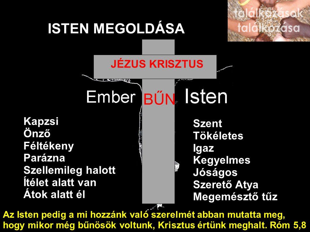 BŰN ISTEN MEGOLDÁSA JÉZUS KRISZTUS Kapzsi Szent Önző Tökéletes