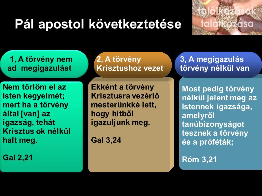 Pál apostol következtetése