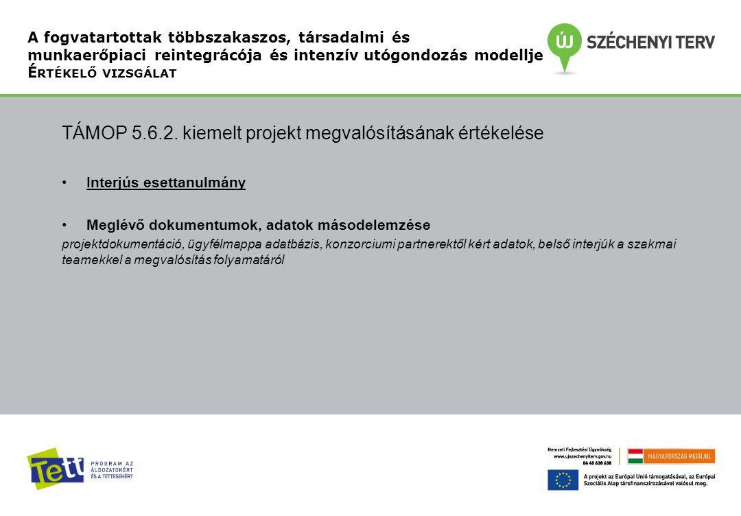 TÁMOP 5.6.2. kiemelt projekt megvalósításának értékelése
