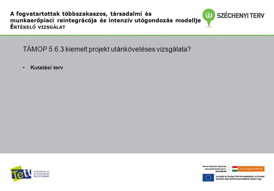 TÁMOP 5.6.3 kiemelt projekt utánkövetéses vizsgálata