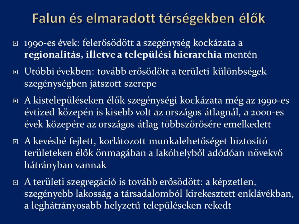 Falun és elmaradott térségekben élők