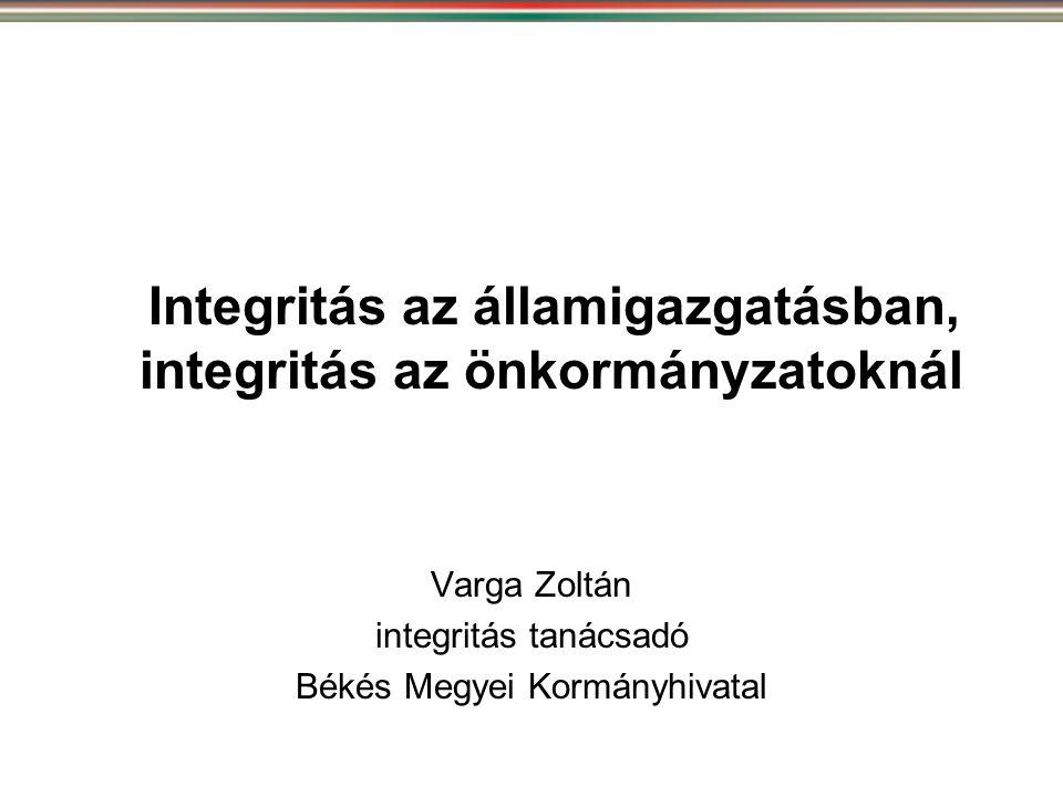 Integritás az államigazgatásban, integritás az önkormányzatoknál