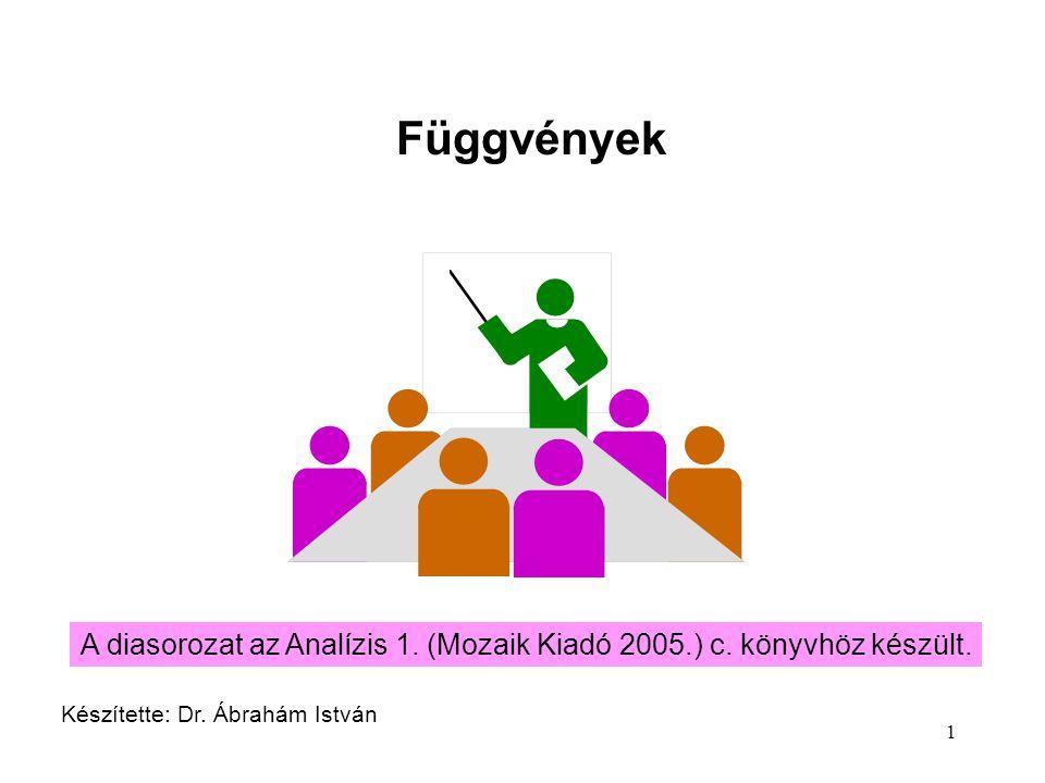 Függvények A diasorozat az Analízis 1. (Mozaik Kiadó 2005.) c.