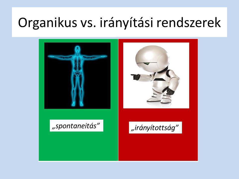 Organikus vs. irányítási rendszerek