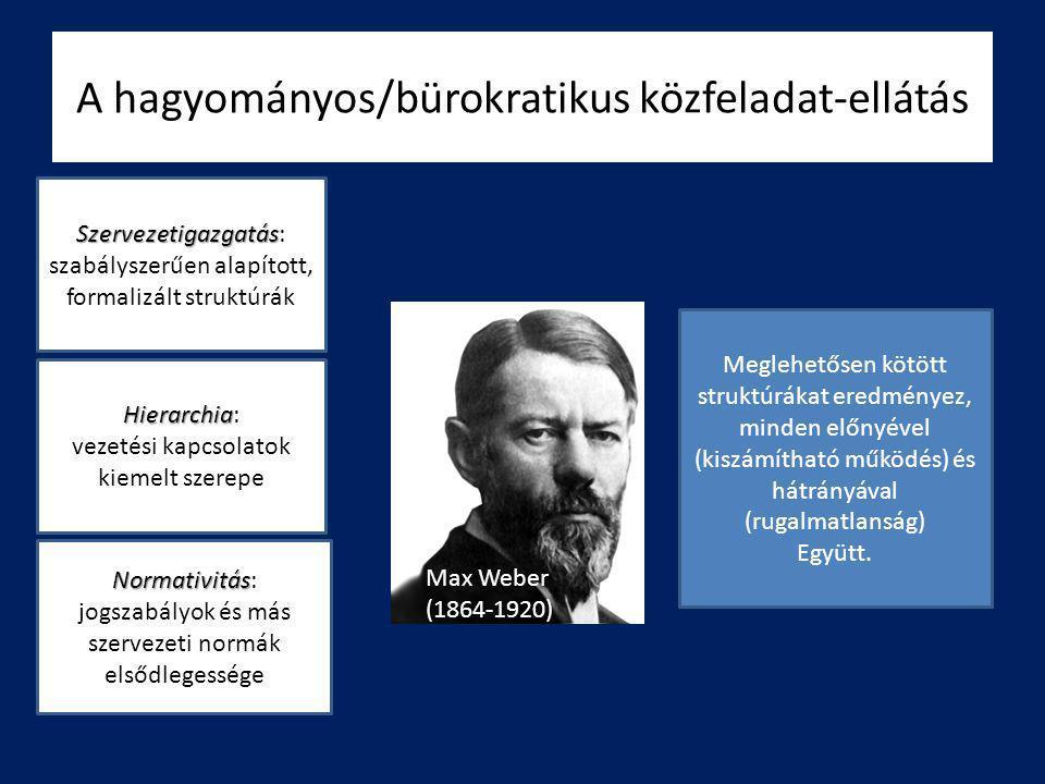 A hagyományos/bürokratikus közfeladat-ellátás