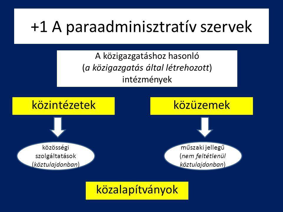 +1 A paraadminisztratív szervek