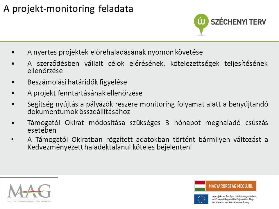 A projekt-monitoring feladata