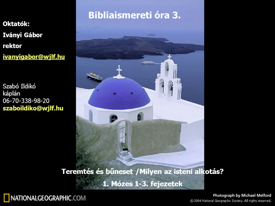 Teremtés és bűneset /Milyen az isteni alkotás