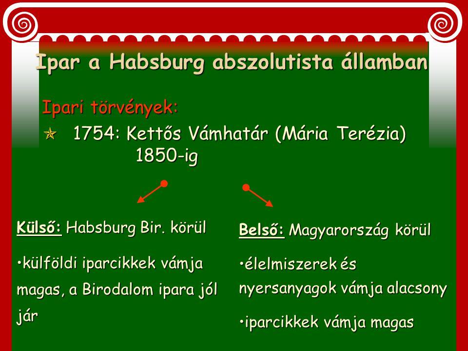 Ipar a Habsburg abszolutista államban