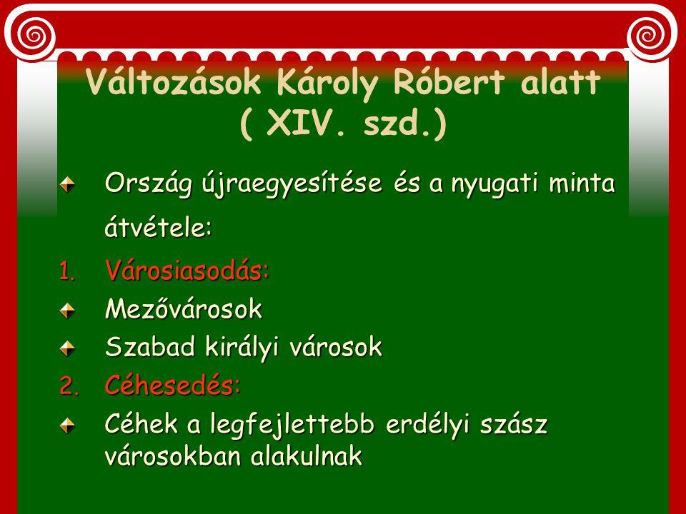 Változások Károly Róbert alatt ( XIV. szd.)