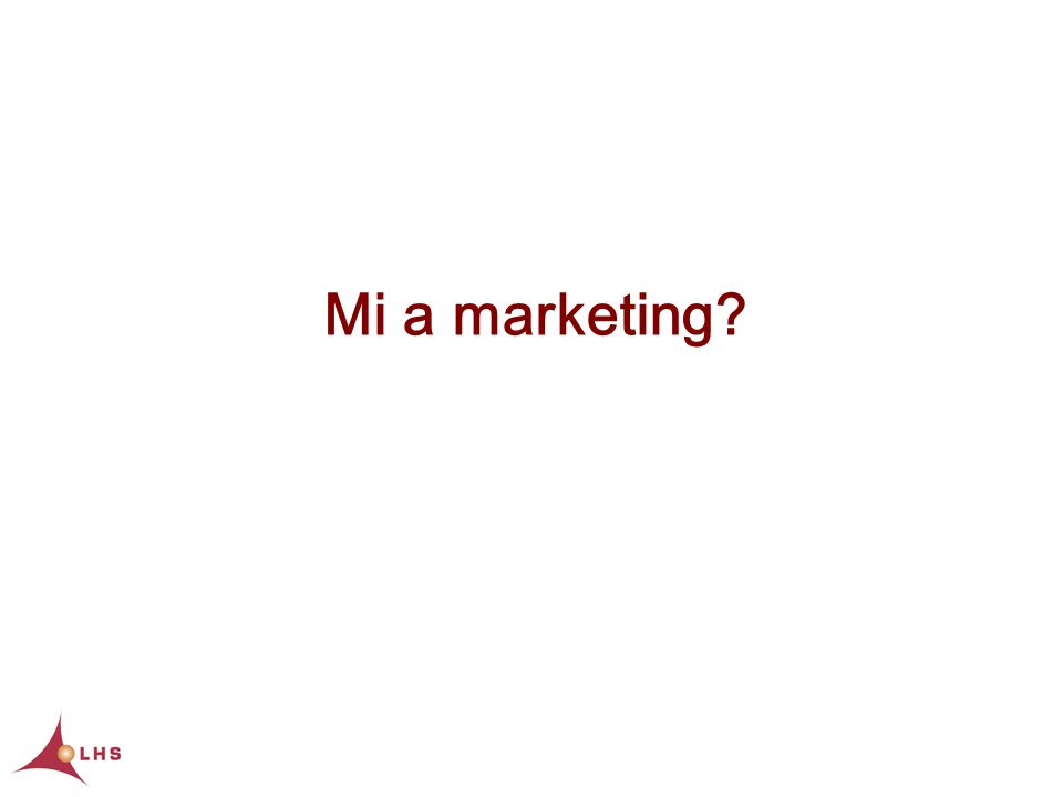 Mi a marketing