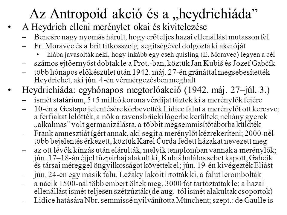 """Az Antropoid akció és a """"heydrichiáda"""